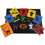 HALLOWE'EN STENCILS, Set of 6