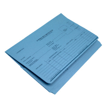 PUPIL RECORD FOLDER - FOOLSCAP, Blue, Pack of 50