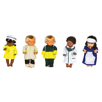 ROLE PLAY, DOLLS, Occupations, Set of 5
