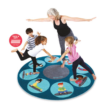 KIT FOR KIDS, WELLBEING CARPETS, YOGA, 2000 x 2000mm, Each