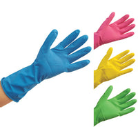 GENERAL HANDLING GLOVES, Household Rubber Gloves, Small, Yellow, Pair
