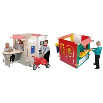 TWOEY TOYS, MAPLE EFFECT & COLOURED PLAY PANEL FURNITURE, One Stop Shop, For Ages 3+, Coloured