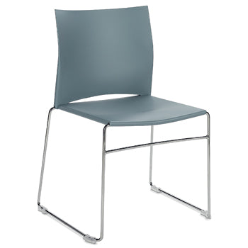 STACKING CHAIRS, Polypropylene Seat With Full Back, Grey