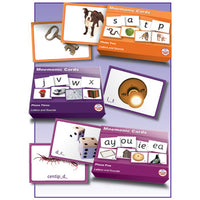 SMART PHONICS, MNEMONIC CARDS, Letters and Sounds, Phase 2, Set of 24