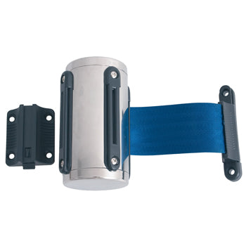 BARRIER QUEUEING SYSTEMS, Wall Mounted with Blue Strap, Each
