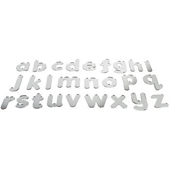 ALPHABET, MIRROR LOWER CASE ALPHABET LETTERS, Pack of 26