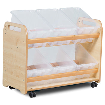 Millhouse  ROLE PLAY ZONE, TILT TOTE STORAGE (6 TUBS OR BASKETS), With 6 Clear Tubs