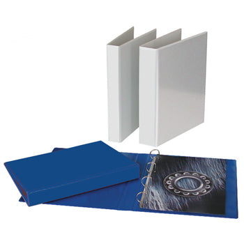 PRESENTATION RING BINDERS FOR PERSONALISATION, A4, 4 RING, 40mm Capacity, White, Box of 10