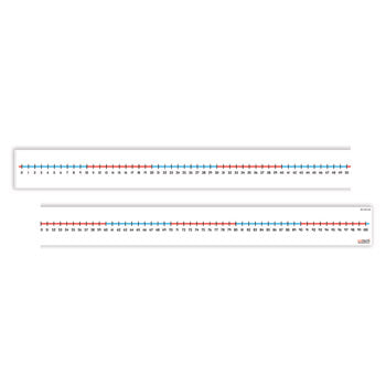 TABLE TOP NUMBER LINES, 1000 x 60mm, 0 - 100, Pack of 5