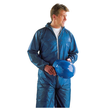 DISPOSABLE COVERALLS, Polypropylene, Large, Each