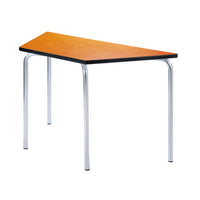 EQUATION TABLES - CONTINUED, TRAPEZOIDAL, 1200/600 x 520mm, 760mm height, Orange Flame