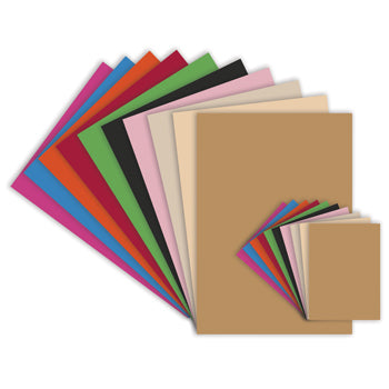 ASSORTED BRIGHT/NATURAL CARD, SRA2, 280 micron, Pack of 300 sheets