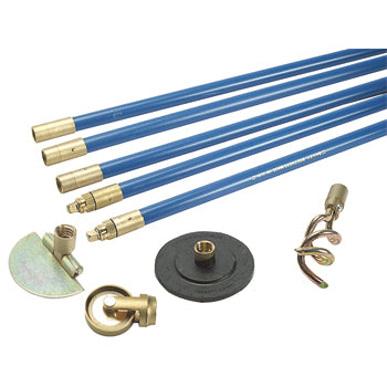 DRAIN CLEANING RODS, Lockfast 3/4'' Drain Rod Set With 4 Tools, With Lockfast Joints, Set