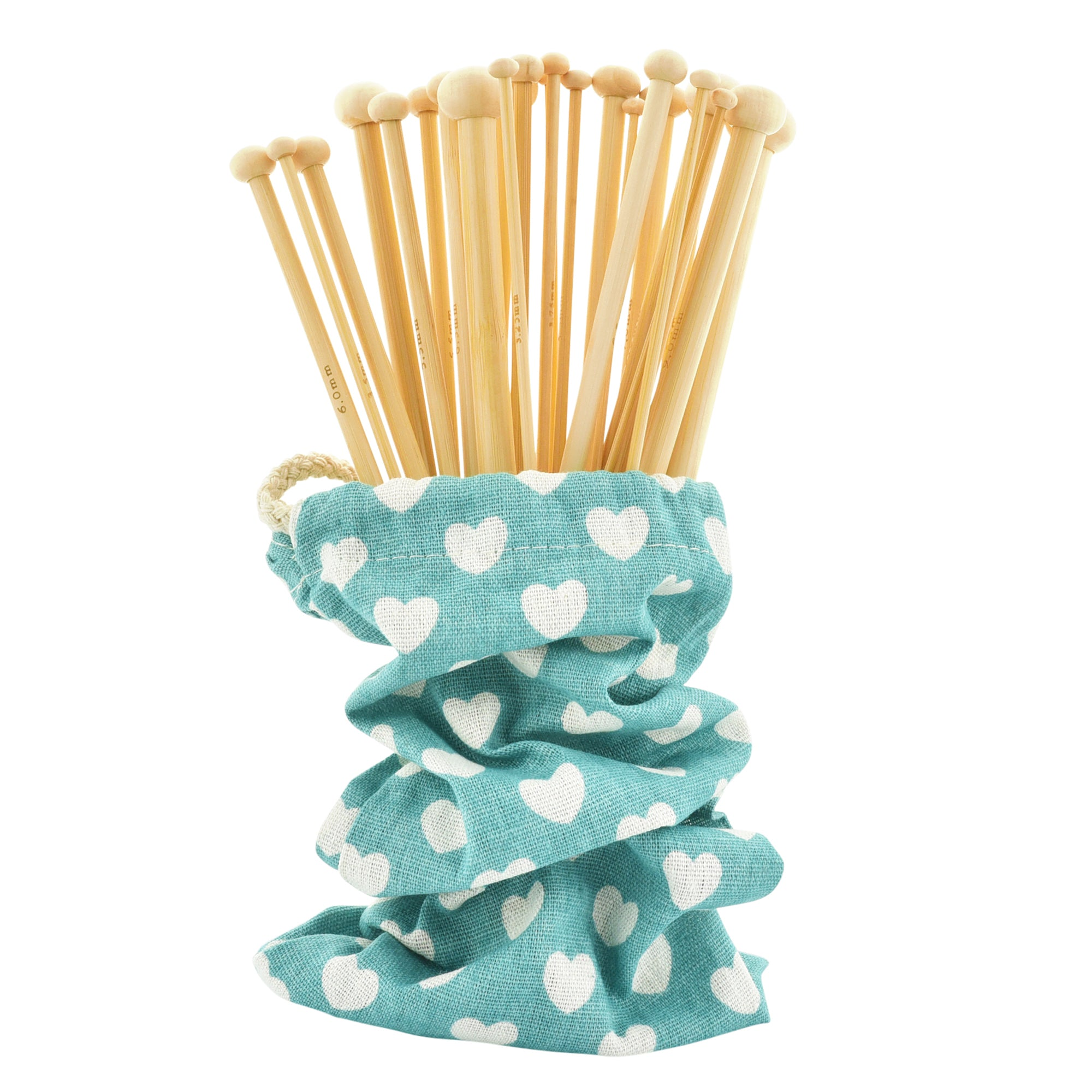 18 Pairs Smooth Bamboo Knitting Needles with Pouch