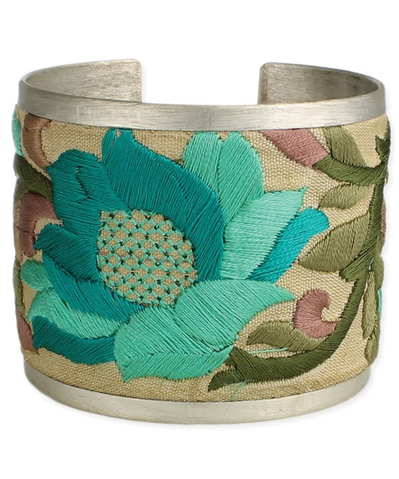 SAI Embroidered Turquoise Bracelet