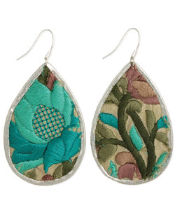SAI Turquoise Embroidered Earrings
