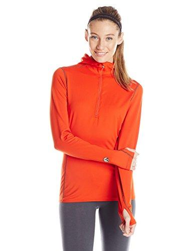Hot Chillys Women's Micro-Elite Hooded Zip Base Layer Top