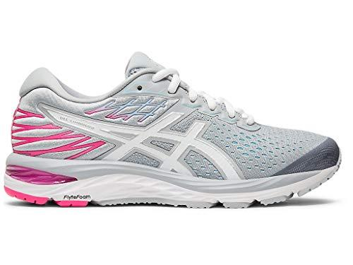 ASICS Women's Gel-Cumulus 21 Running Shoes, 9M, Piedmont Grey/White