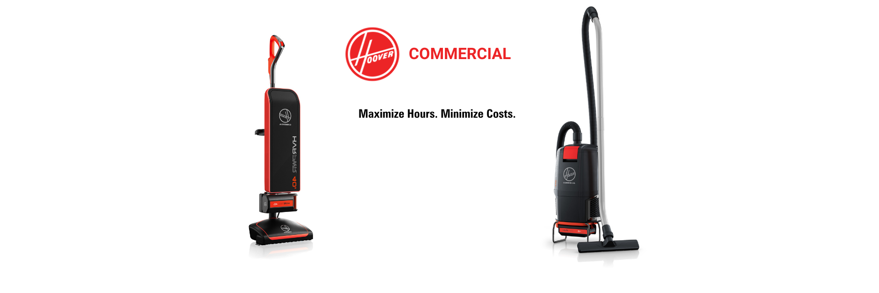 HOOVER Commercial cordless vacuum cleaners.