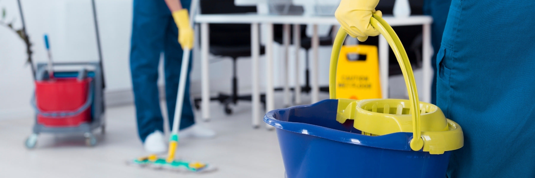 Professional cleaning crew using Jan-Supply's best practices for commercial cleaning.