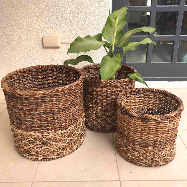 Oak Round Basket