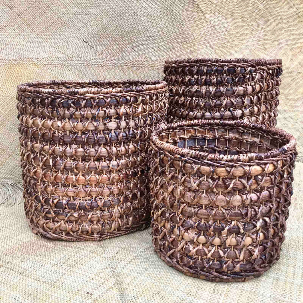 Maple Round Basket