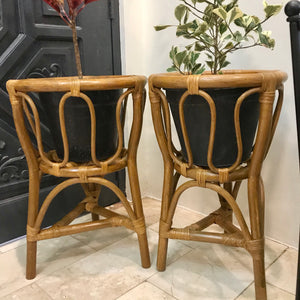 Chestnut Rattan Plant Stand