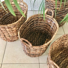 Load image into Gallery viewer, Set of 3 Oval Abaca Baskets