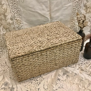 Sweater Weave Lidded Basket