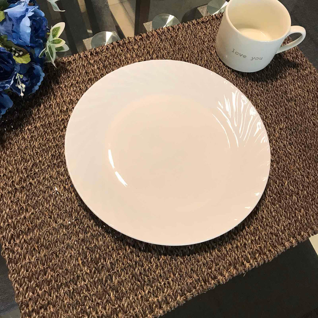 Set of 6 Rect Brown Abaca Placemat