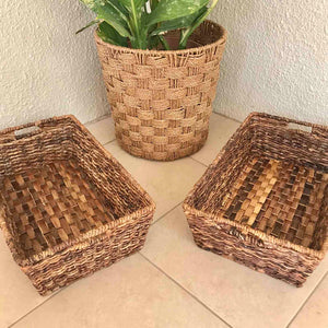 Abaca Long Tray Catch All Basket