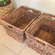 Load image into Gallery viewer, Abaca Rect Laundry Basket