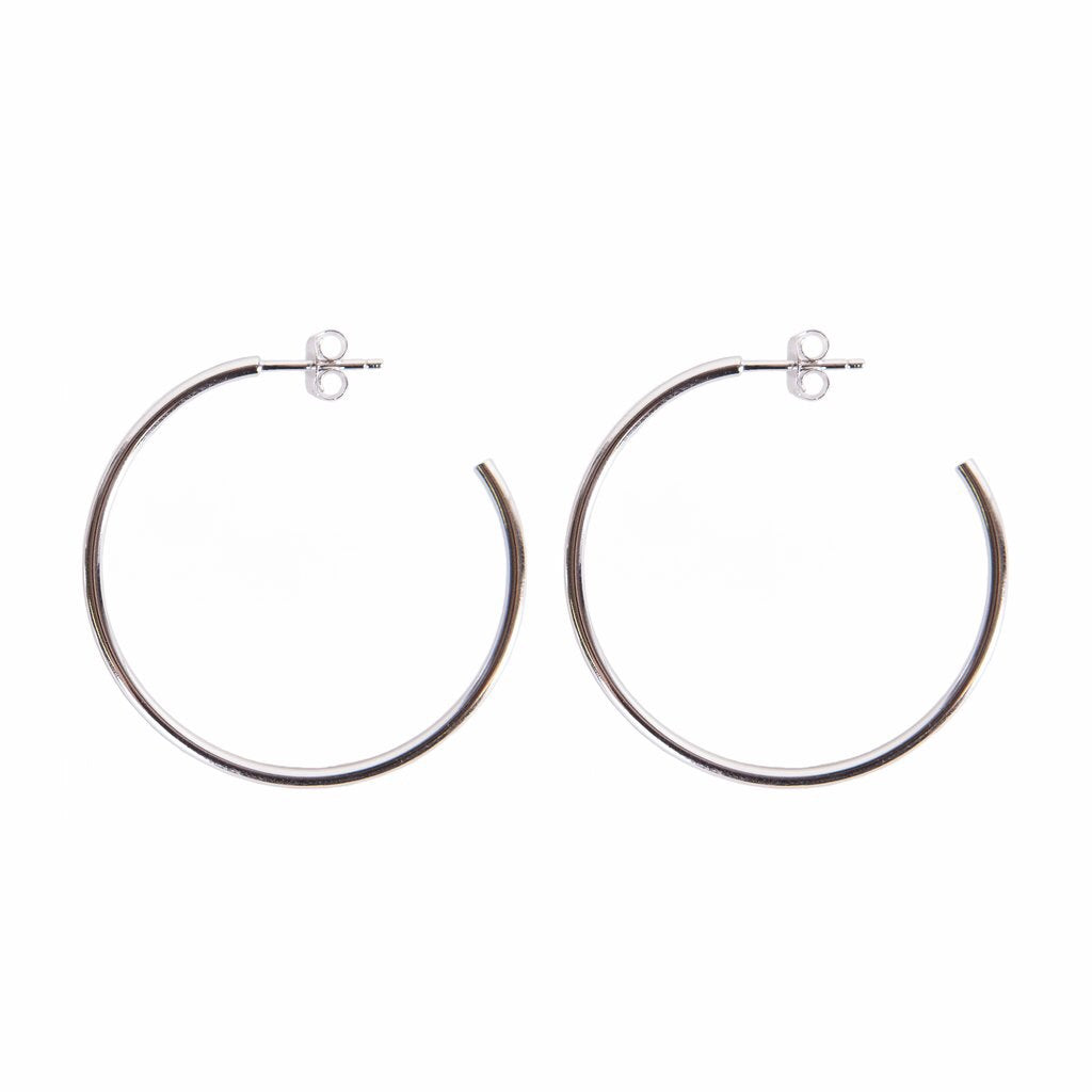 Solid Bar Hoops