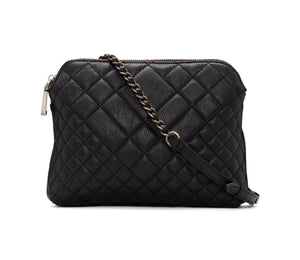 QUILTED BASIC CROSSBODY - BLACK