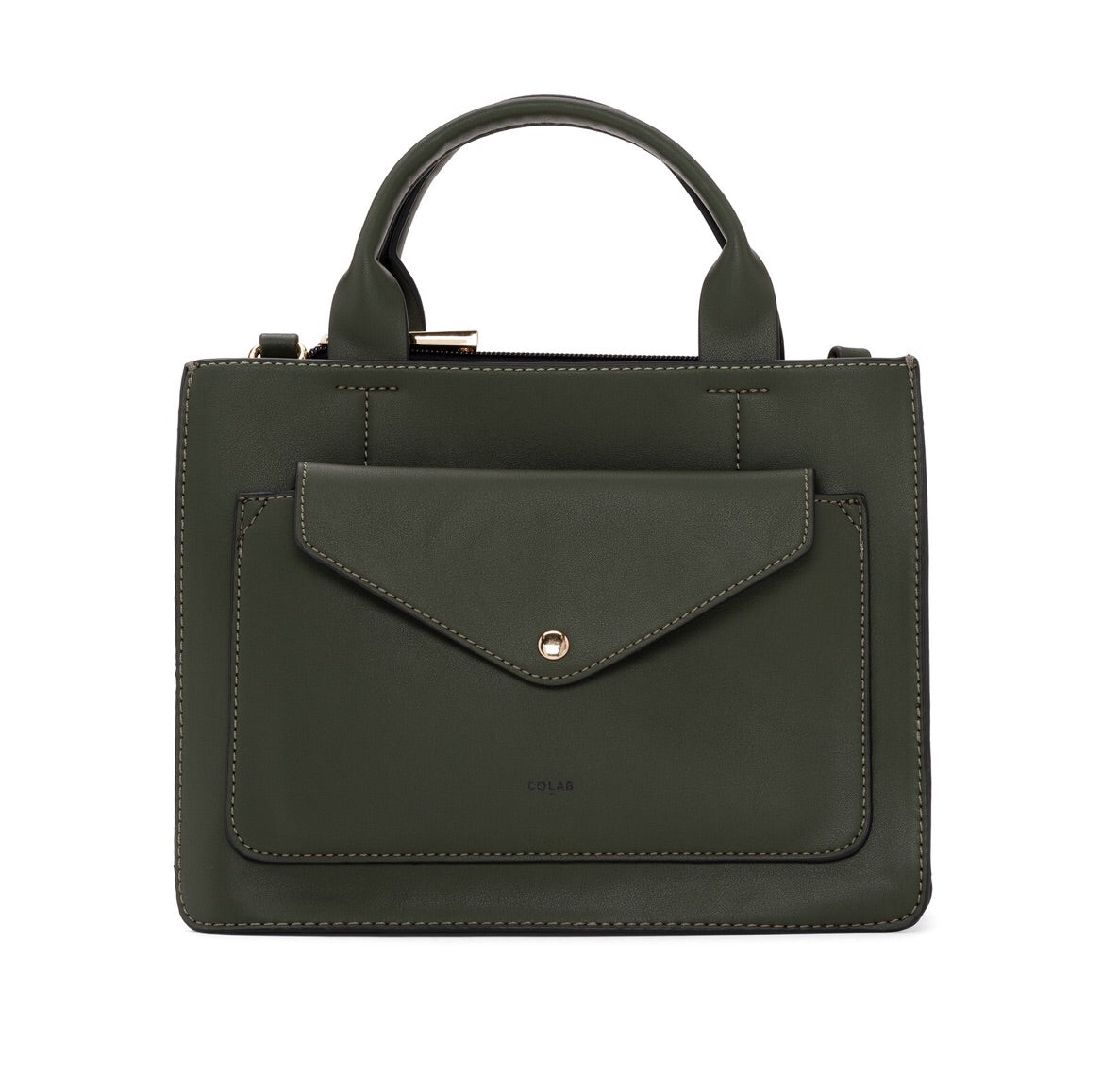 TAILORED MINI TOTE CROSSBODY - FOREST