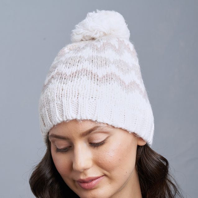 Fairisle Hat-moonbeam