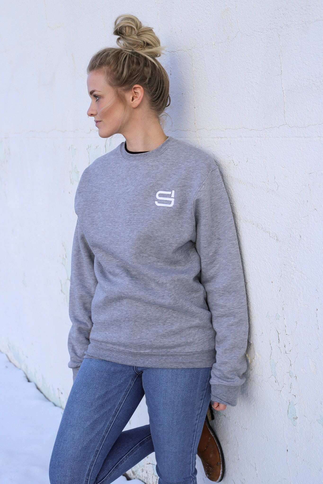 CLASSIC UNISEX CREW - Heather Grey