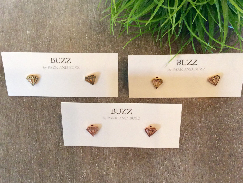 Diamond shaped studs