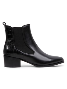 Blondo Vaia Croc-Embossed Leather Boot