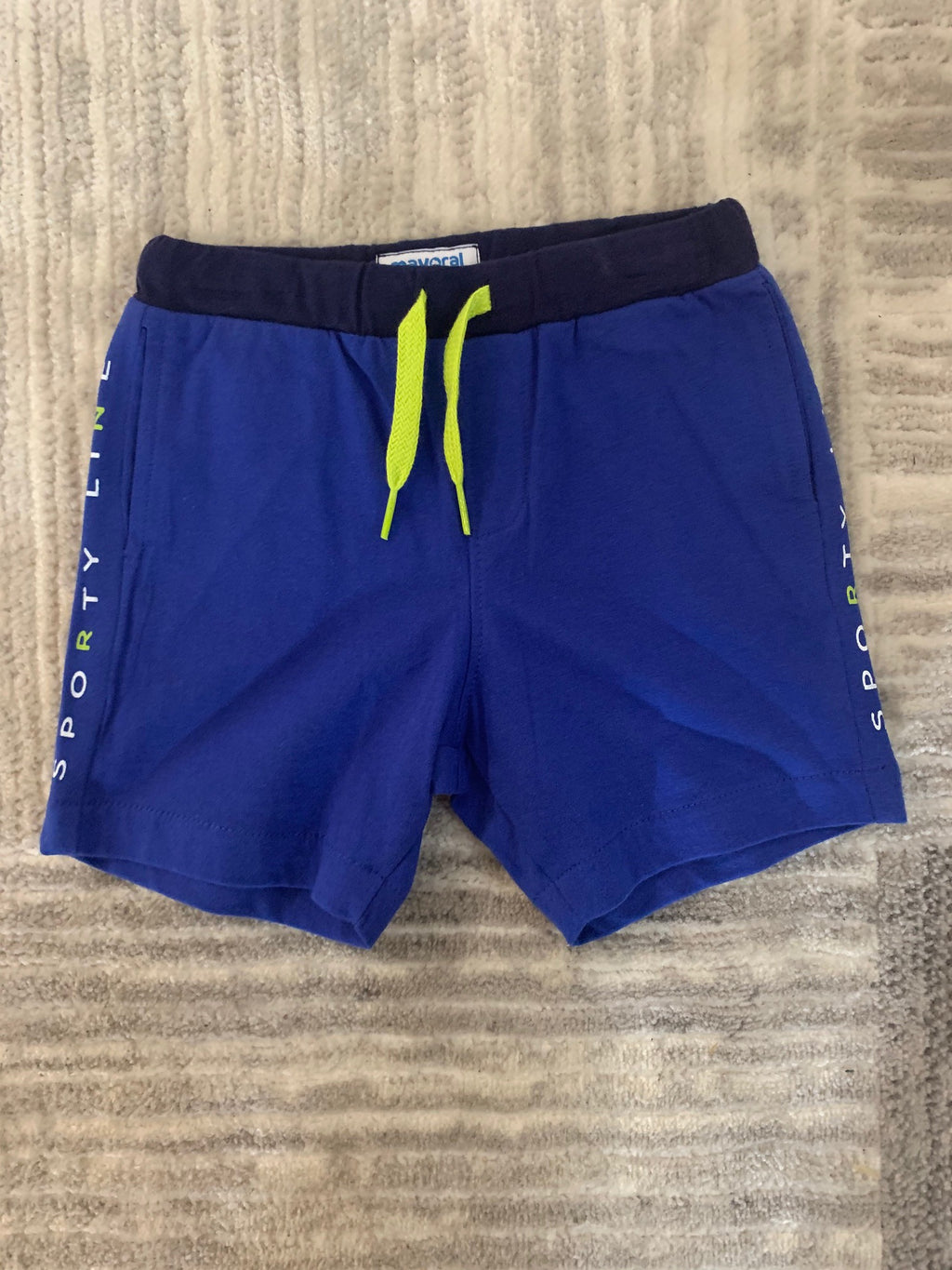 Blue Sporty Line Shorts