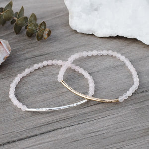 RUBY BRACELET-ROSE QUARTZ