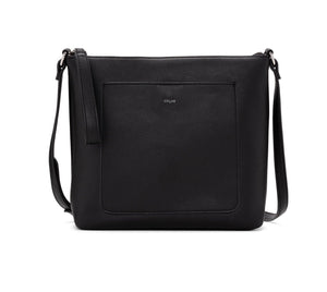 PEBBLE CROSSBODY WITH POUCH-Black