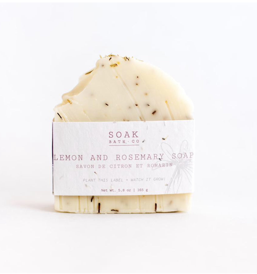 Lemon and Rosemary Soap Bar