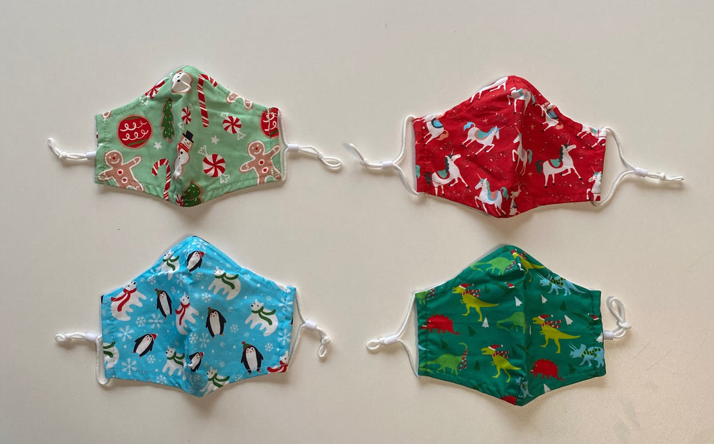 Cotton Kids Christmas Masks