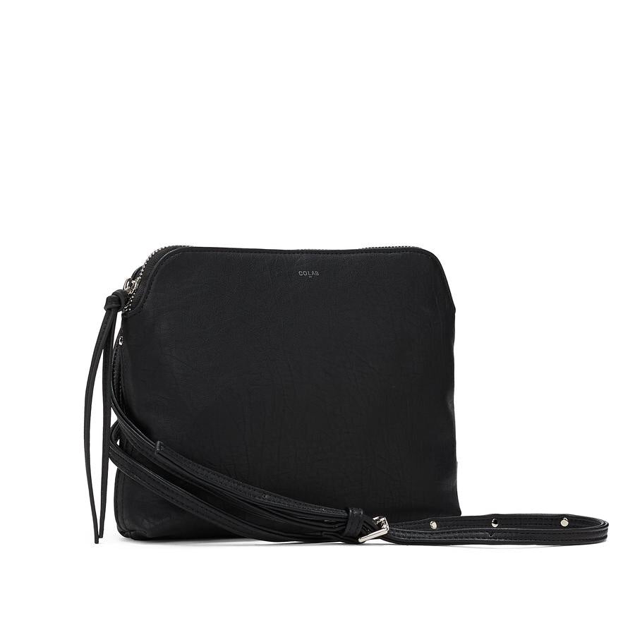 TUMBLED BASIC CROSSBODY - Black