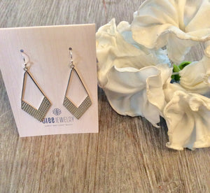 Triangular Arrow drop earrings