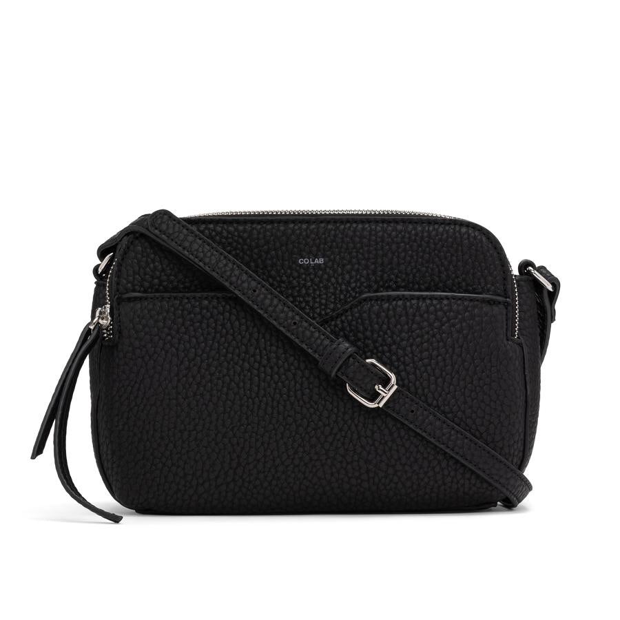 PEBBLE DOUBLE CROSSBODY - Black