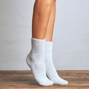 Girlfriends Rib Ski Sock - Chalk Indigo One Size