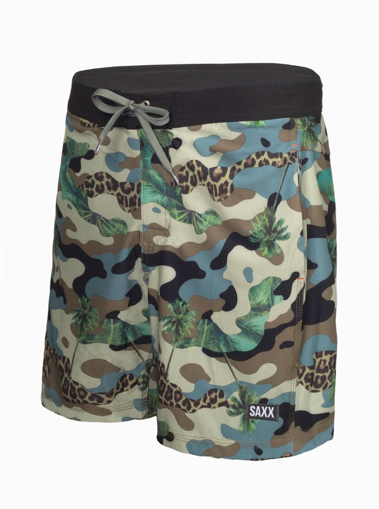Green Jungle Camo 2 In 1 Swim Short 17""