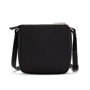 PEBBLE CROSSBODY WITH POUCH - Black